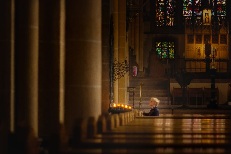 child ,religion, light, life,faith, conversation, soul, prayers, church, god a conversation with the Creator..photo preview