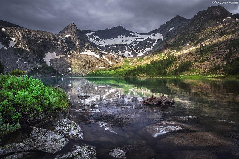 Алтай, Горное озеро, Горный алтай, Горы, Озеро, Отражение Озеро Крепкоеphoto preview