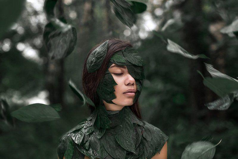 девушка портрет арт сказка лицо волосы глаза  photo preview