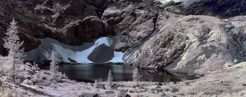 Горный Алтай Среднее озеро на г. Красной. ИК-съемкаphoto preview