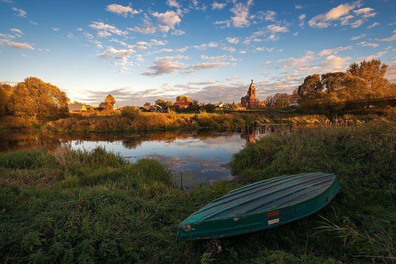 октябрь, теза, лодка, вечер Октябрь, сушим вёсла...photo preview