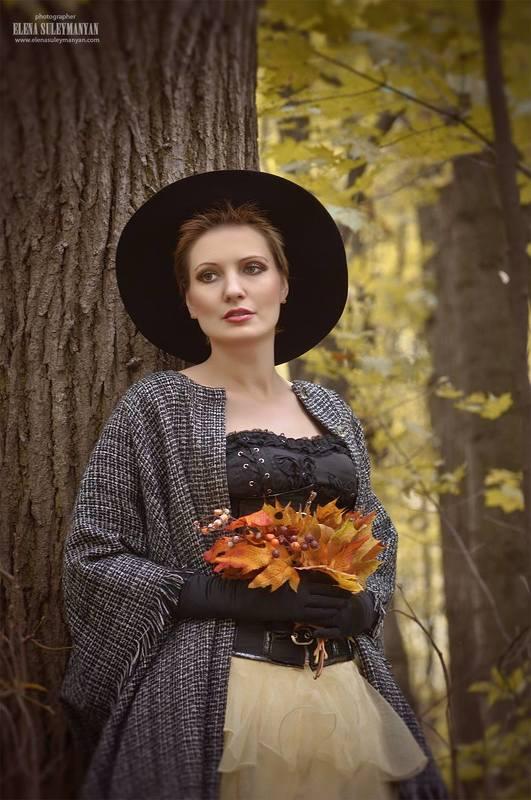 осень портрет девушка Осеннееphoto preview