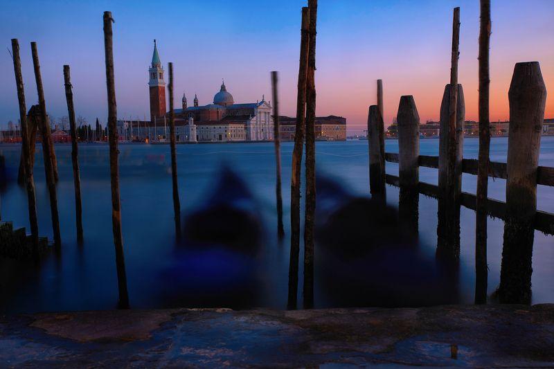 Венеция, Италия, вечер, закат, огни Вечер в Венецииphoto preview