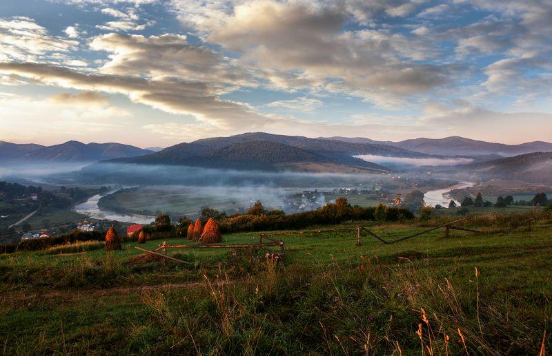 карпаты, рассвет, утро, облака, туман, свет, осень Доброе утроphoto preview