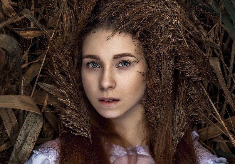 портрет девушка глаза волосы лицо арт сказки photo preview