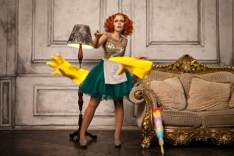 redheadh maid lady alexandr chuprina рыжая горничная леди александр чуприна Seductive Lady\'s maidphoto preview