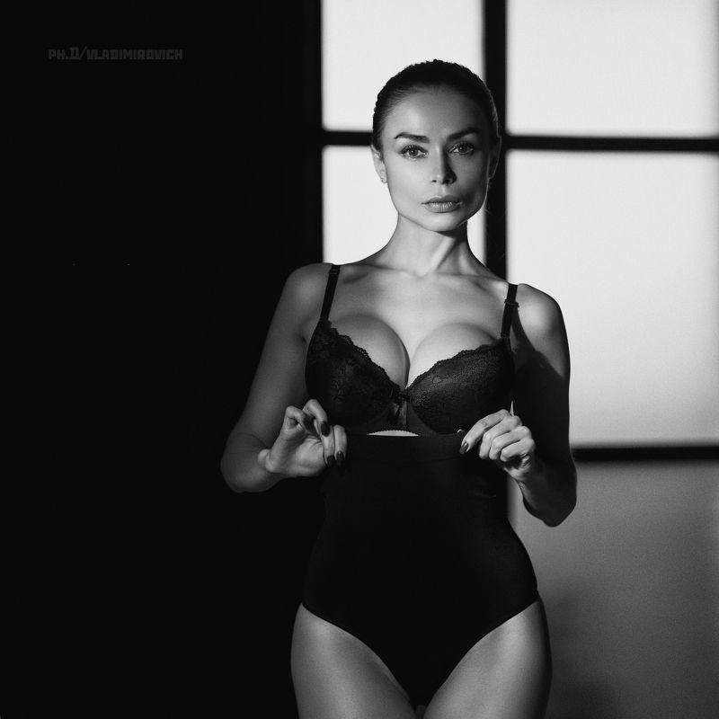 fujifilm, studio, model, light, beauty, 50mm,b&w Портрет Ириныphoto preview
