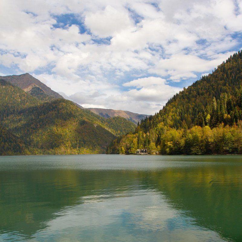 абхазия, пейзаж, горы, рица Осень в Абхазииphoto preview
