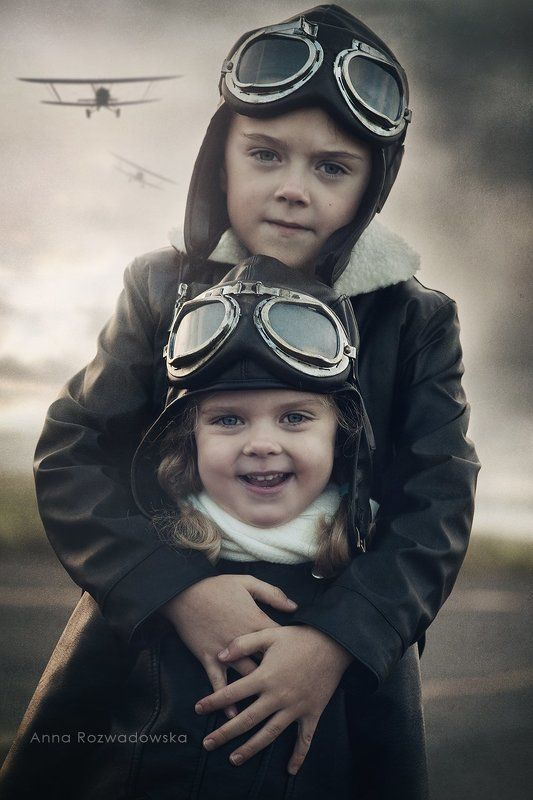 pilot, plane, siblings  J & Bphoto preview