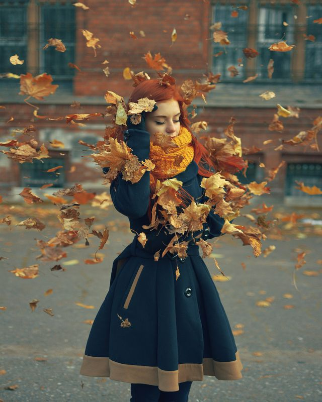 Осень, Портрет, Нарва, Эстония В вихреphoto preview