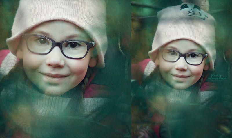 осень, дети, девочка, в очках, лес Анжелаphoto preview