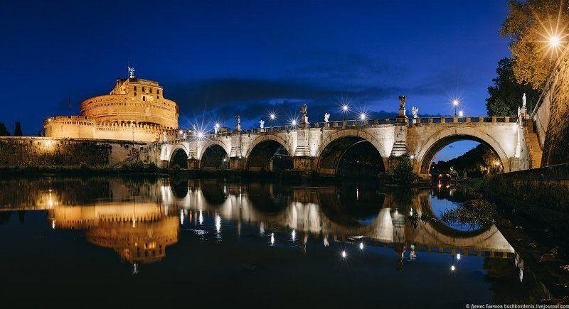 италия, рим,мост, элиев, замок, святого ангела ***photo preview