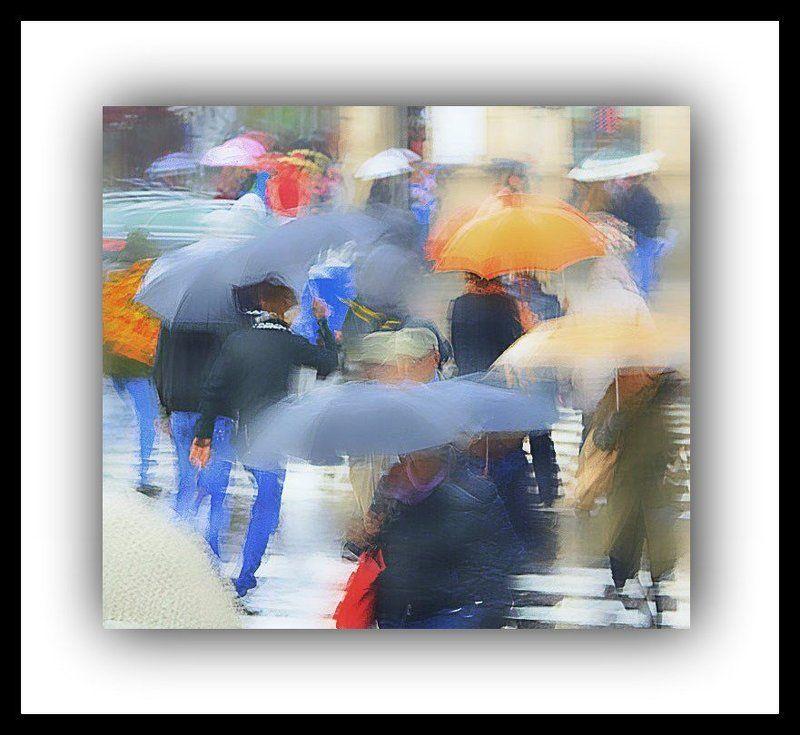 зонтики,дождь Этюд \