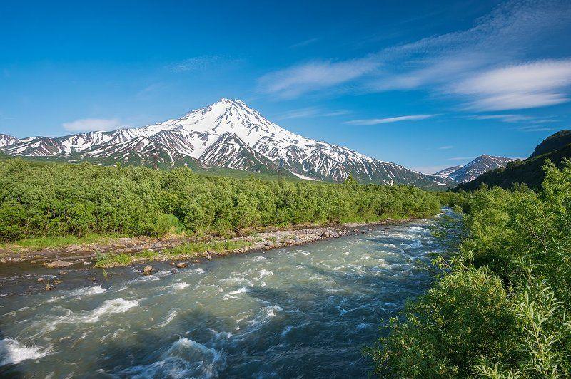 камчатка, вулкан, вилючинский, река, паратунка, лето photo preview