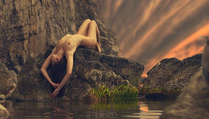 ню, эротика, море, крым, скалы, модель, девушка, женщина, фотография, обнаженное тело, фигура, грудь, попа, волосы, анри, круазе. Survival...photo preview
