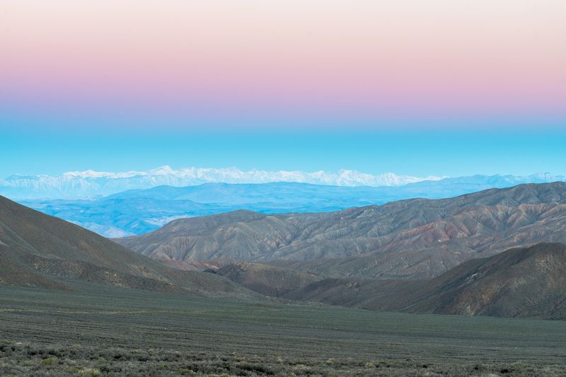 California, death valley, sunrise, mountains, desert Безмятежность утра.photo preview