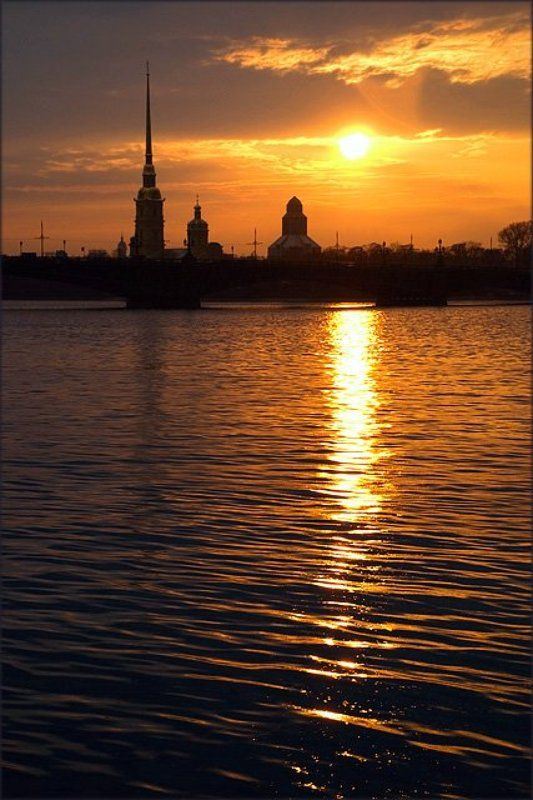 питер, закат, петропавловская крепость про закатphoto preview