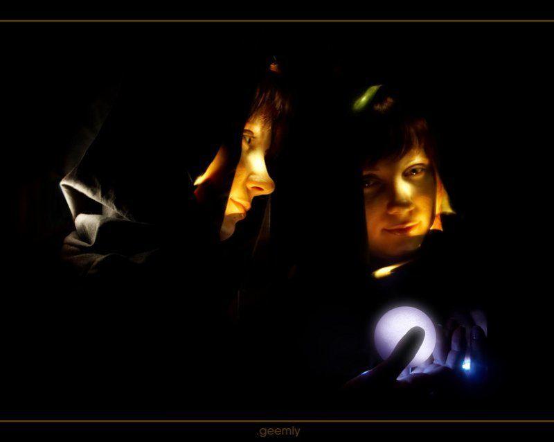 шар, портрет, светографика Колдовской шарphoto preview