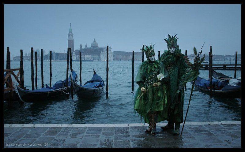 италия, венеция, карнавал, маски, italy, venice, venezia, mask, carnival, carnevale, гондолы, гондола Венецианский карнавал (Пробуждение)photo preview
