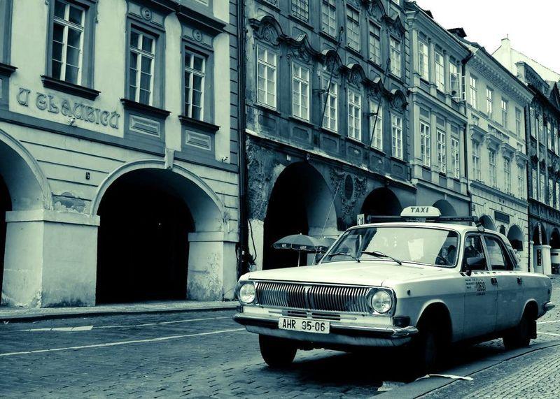 прага такси волга чехия город такси-блюзphoto preview