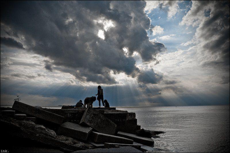 залив про художников, рисующих небоphoto preview