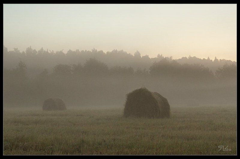 утро, сено, солома, рассвет, тюки Утро - как утрОphoto preview