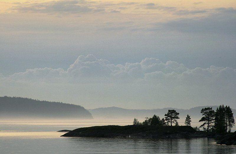 ладога, остров, небо, камни, облака Рисунки облакамиphoto preview