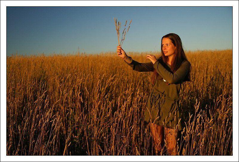 катю, портрет, девушка,закат, поле, лето Навстречу солнцу... *2*photo preview