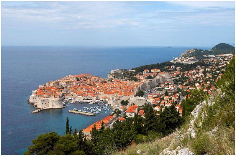 хорватия, дубровник, море, пейзаж жемчужина Адриатикиphoto preview