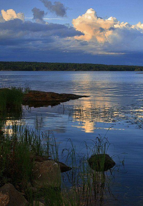 ладога, остров, небо, камни, облака ****photo preview