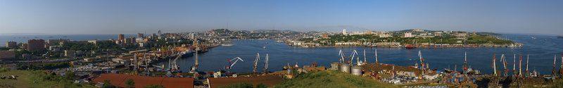 владивосток Берег портовых крановphoto preview