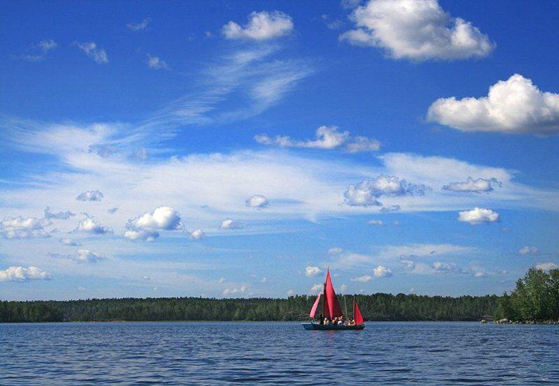 ладога, парус, вода, небо Романтики Ладогиphoto preview