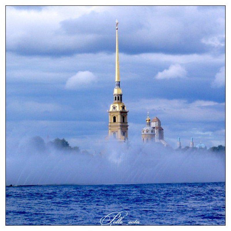 питер, петропавловка, фонтан Город, тонущий в дождях и листопадах..photo preview