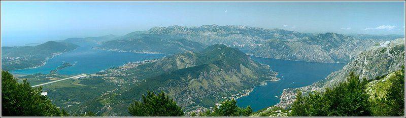 черногория, горы, море, пейзаж, панорама С высоты птичьего полетаphoto preview