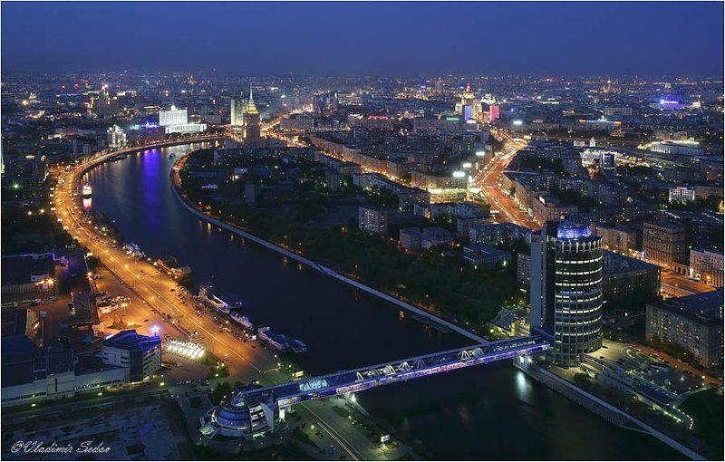 город, свет, ночь Над большим городомphoto preview