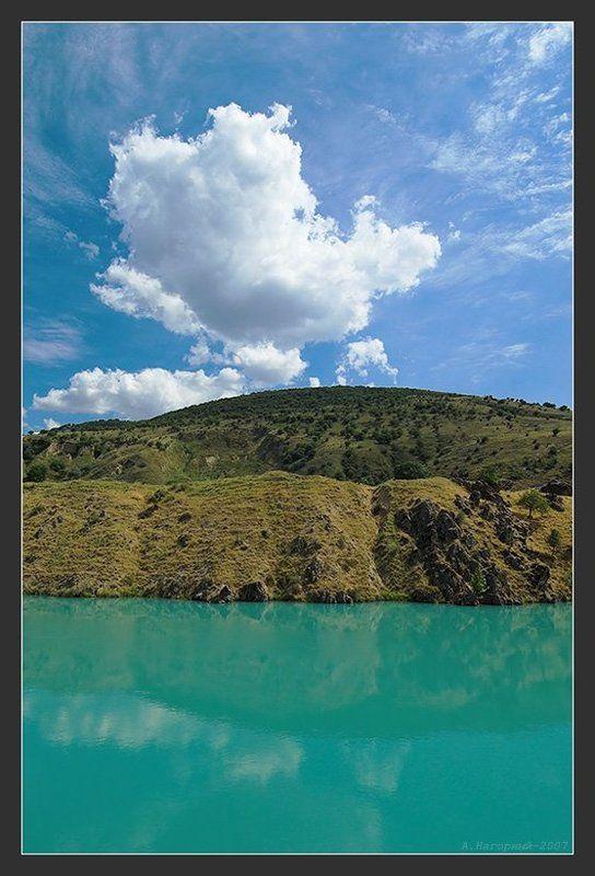 бутерброд, три стихии, вода, земля, воздух, озеро, горы, небо, облака, отражение Три стихииphoto preview