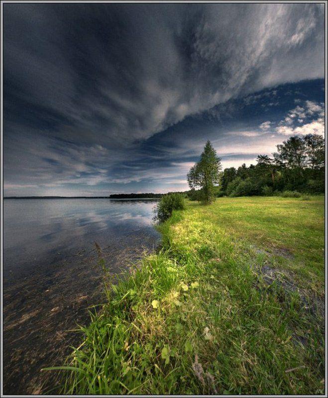 свет, озеро Вечером на озере...photo preview
