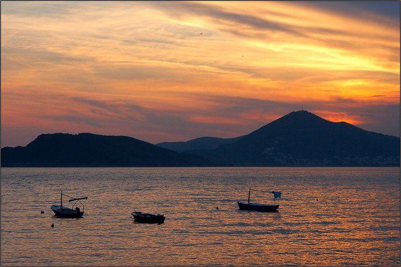 черногория, море, закат ***photo preview