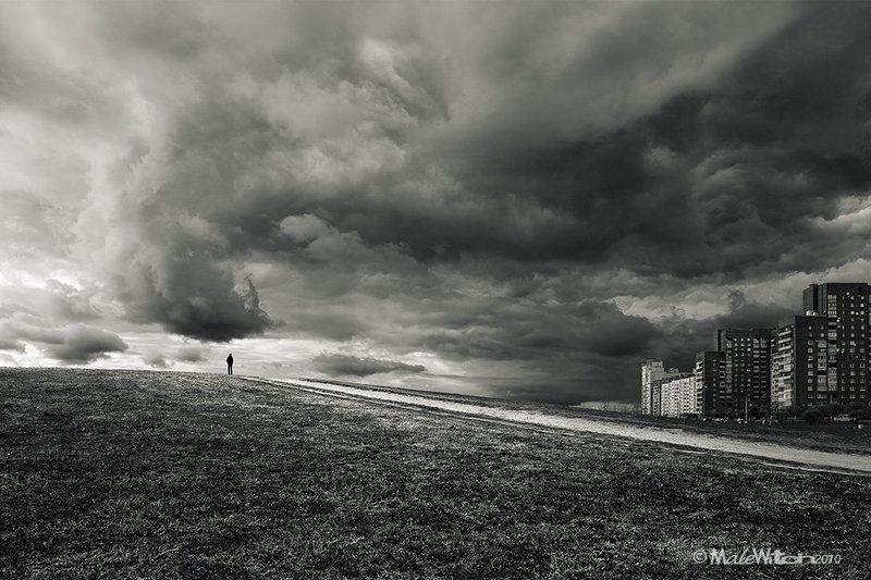 пейзаж, облако, небо, монохром, sky, cloud, landscape, b&w Stormbringerphoto preview