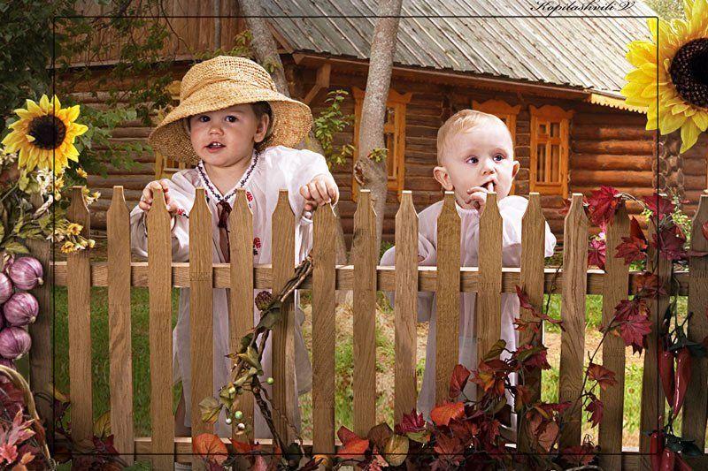 дети, забор Хлопцыphoto preview