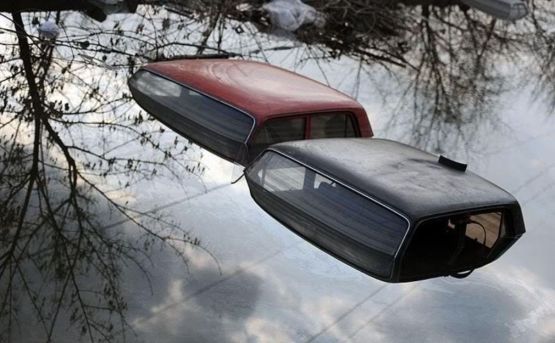 город, автомобили, паводок Весна пришлаphoto preview