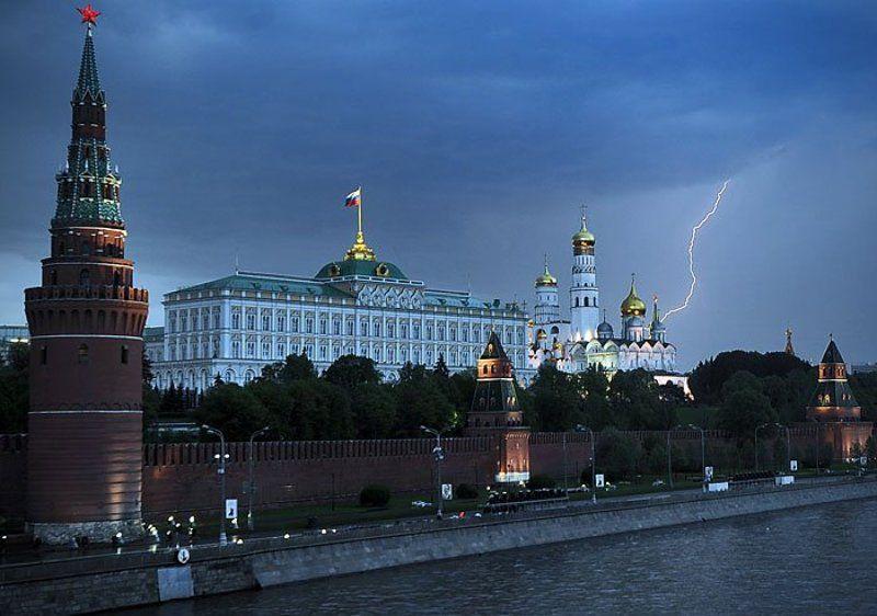 москва, кремль, гроза ***photo preview