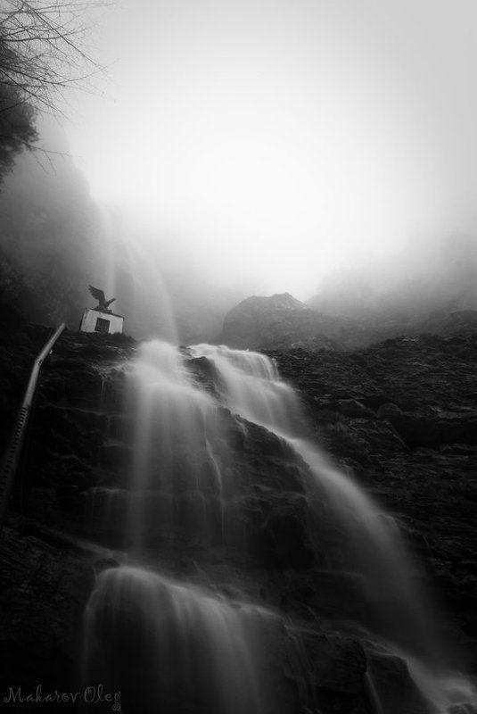 водопад, учан-су водопад в туманеphoto preview