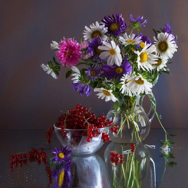 фотография, , натюр, , цветы, , букет, , ягоды, , смородина, , 6х6 Смородинаphoto preview
