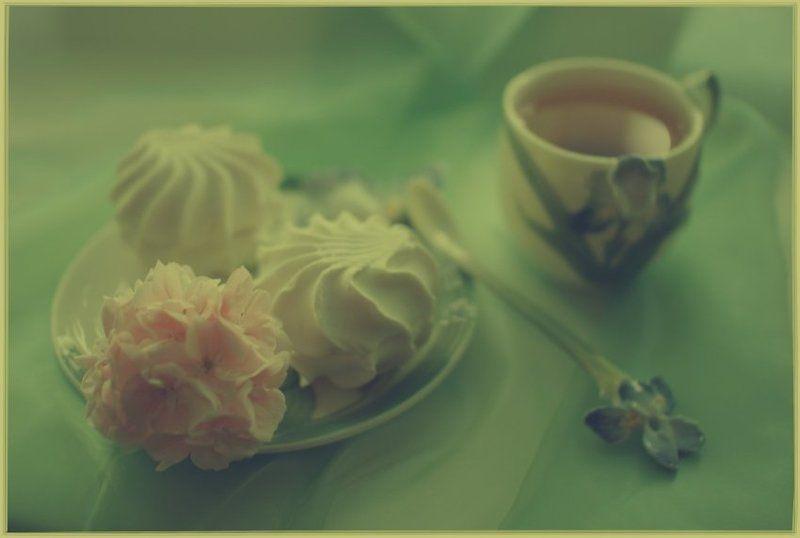 чай,цветок,зефир к чаю.photo preview