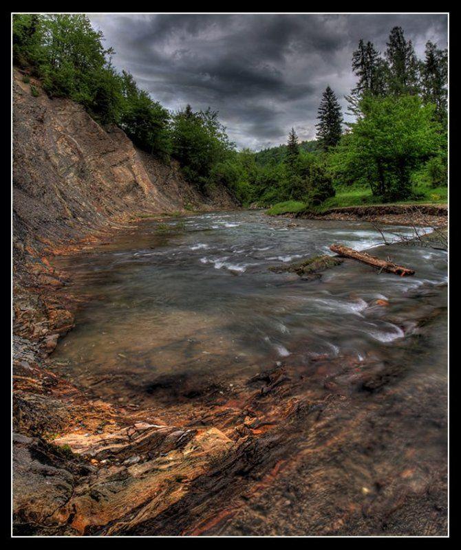 карпаты, каньон, река, лес, гроза Гроза в каньонеphoto preview