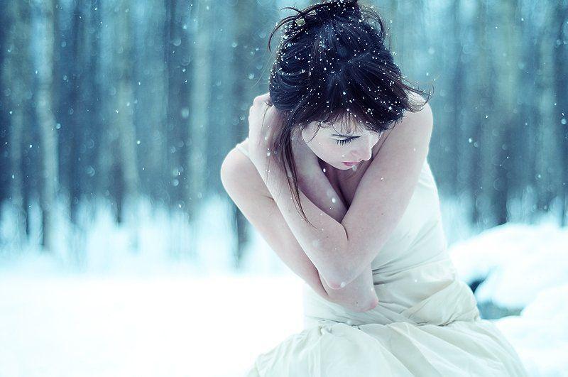 марина, nikon, d300s, снег, портрет Маринаphoto preview