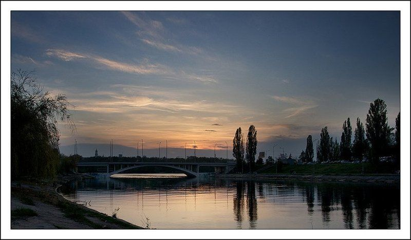 киев, русановка, мост, канал, вечер, закат Русановский вечер...photo preview