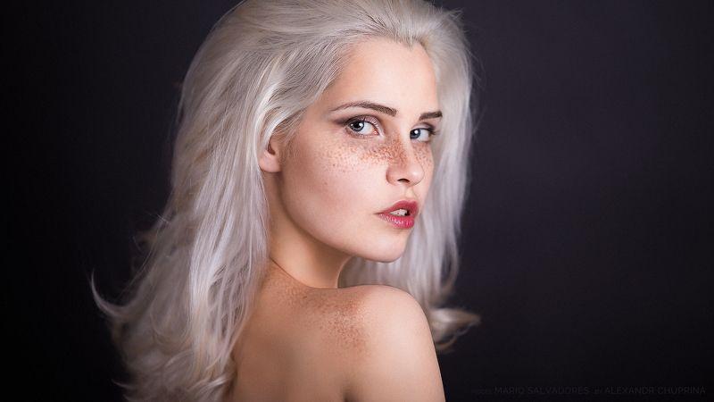 blonde freckless portrait art alexandr chuprina блондинка веснушки портрет арт александр чуприна Freckless Blondesphoto preview