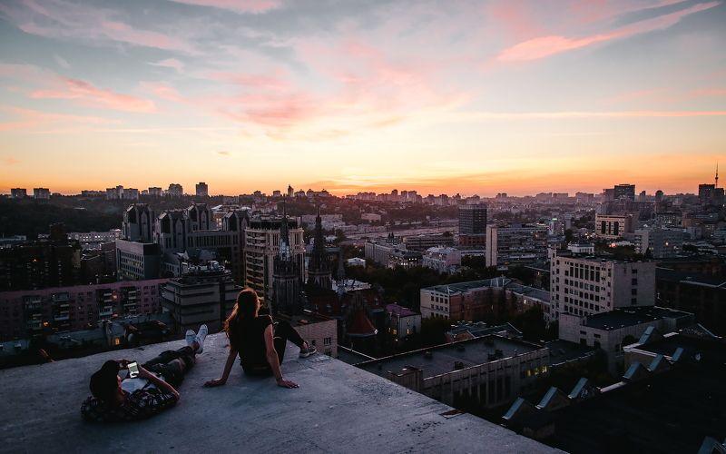 kiev, киев, chill, relax, вечер, небо, вид Kievphoto preview
